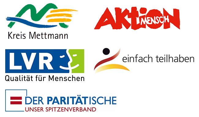Unsere Partner, Kreis Mettmann, Aktion Mensch, LVR, der Paritätische, einfach teilhaben
